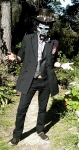 'Voodoo man' costume - Baron Samedi'esque (full view w/mask)