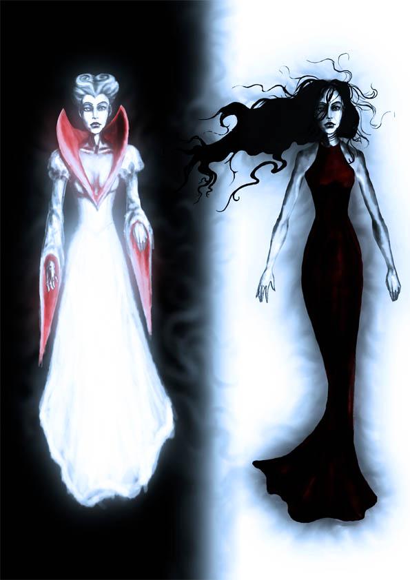 black and white gothic dresses